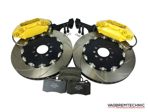 Front Brake Kit 4 Piston Brembo Calipers with 343x28mm 2-Piece Discs (BK0004)