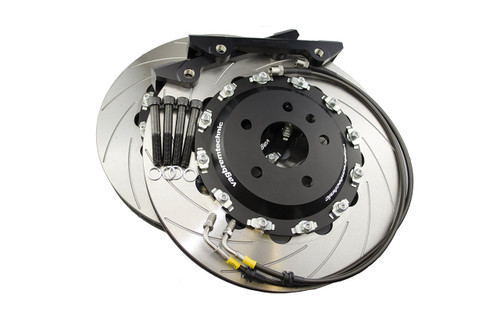 Front 2-Piece 362x32mm Disc & Caliper Carrier Kit - Allows Fitment of 8 Piston RS4/R8/Gallardo Brembo Calipers (DI0001)