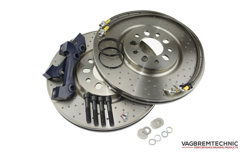 Front 1-Piece 330x28mm Disc & Caliper Carrier Kit - Allows Fitment of Porsche Boxster S Calipers (DI0011)