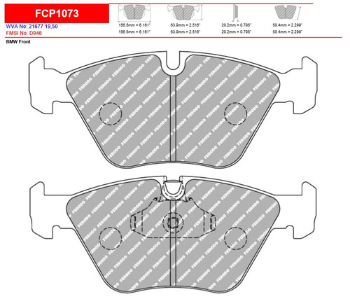 Ferodo DS2500 Front Brake Pad Set (FCP1073H)