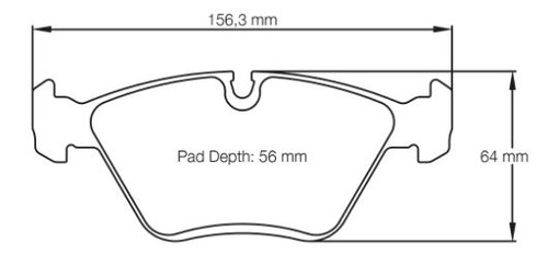 Pagid RS14 Front Brake Pad Set (E1295RS14)