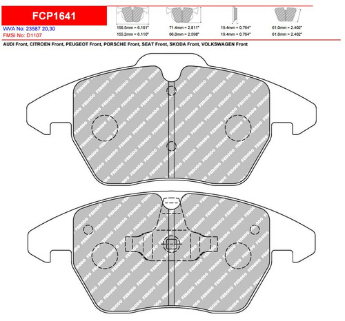 Ferodo DS2500 Front Brake Pad Set (FCP1641H)