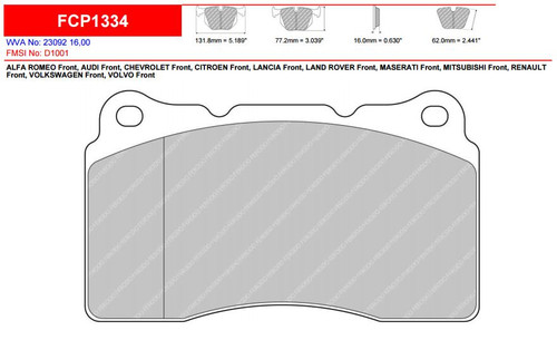 Ferodo DS2500 Front Brake Pad Set (FCP1334H)