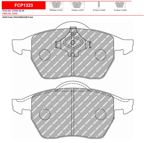Ferodo DS2500 Front Brake Pad Set (FCP1323H)