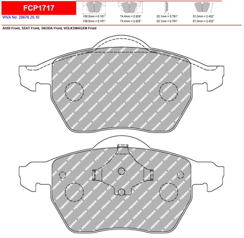 Ferodo DS2500 Front Brake Pad Set (FCP1717H)