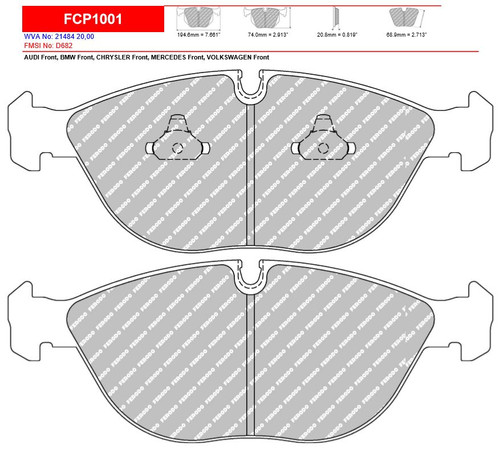 Ferodo DS2500 Front Brake Pad Set (FCP1001H)