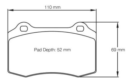 Pagid RS14 Front Brake Pad Set (E1408RS14)