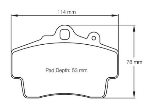 Pagid RSL29 Front Brake Pad Set (E2407RSL29)
