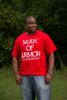 Man of Armor Christian Men's T Shirt (Red)