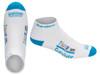 Triumphant Survivor™ Inspirational Low Cut Socks For Women and Men (Hi-Vis Blue and White)