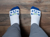 Walk In Love Inspirational Low Cut Socks for Women and Men (Blue/White)