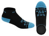 My Friend- My Rescue Love- My Dog Socks For Women and Men (Black & Light Blue)