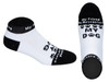 My Friend- My Rescue Love- My Dog Socks For Women and Men (Black & White)