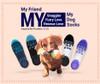 My Friend-My Furry Love-My Dog Socks For Women and Men (Green Mesh)