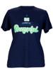 Be Prayerful  Inspirational Christian  T-Shirt For Women Navy Blue