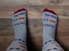 Lamp To My Feet Christian Inspirational Dress Crew Socks For Men and Women  (Gray)
