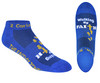 Walking By Faith™ Inspirational Christian Low Cut Socks For Women and Men (Royal Blue)