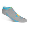 Ultra-Low Cut Ultra-Light Weight Walking By Faith™ Christian Inspirational Socks For Women & Men -Grey