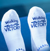 Walking in Victory - Defeat Is Not an Option® Inspirational Low Cut Socks For Women & Men