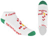 Holiday Walking By Faith™ Christian Inspirational Low Cut Socks For Women and Men (White/Red/Green)