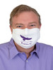 Covered By Psalms 91 -  Made in the USA Reusable Face Mask With Filter Pocket and Nose Wire - Large Adult Size White