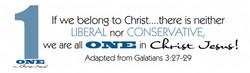 One in Christ- Bumper Sticker