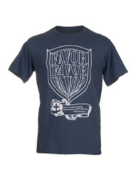 Shield of Favor Grey Inspirational Christian T shirt For Men