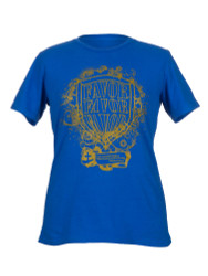 Shield of Favor Inspirational Christian Women's T shirt (Royal Blue)