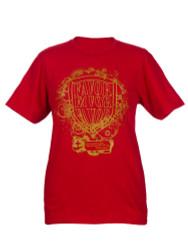 Shield of Favor Inspirational Christian Women's T shirt (Red)