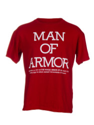 Man of Armor Christian Men's T Shirt (Red)
