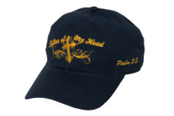 Women's Hat-Lifter of My Head-Navy Blue
