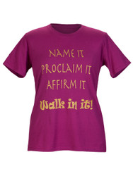 NAME IT WOMEN'S INSPIRATIONAL  T-SHIRT - RASPBERRY