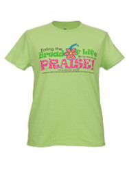 Bread of Life Women's  Inspirational Christian T-shirt  (Green)