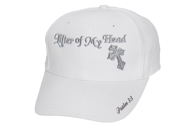 Men's Hat-Lifter of My Head- White