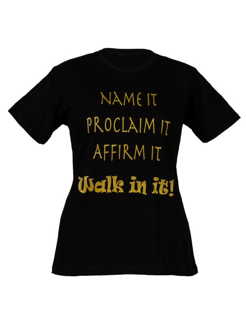NAME IT WOMEN'S INSPIRATIONAL  T-SHIRT - BLACK