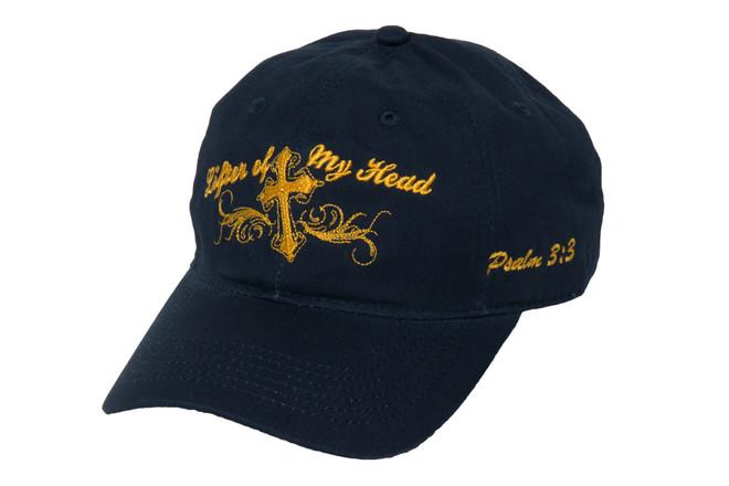 Women's Hat-Lifter of My Head-Navy Blue