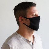 USA Made Cotton Jersey Face Masks - Profile