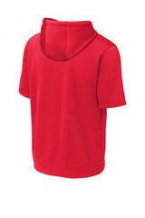 Sport-Tek Sport-Wick Fleece Short Sleeve Hooded Pullover (00669-25); Rear; Decoration Type: