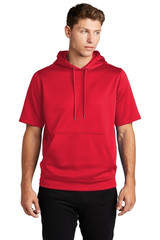 Sport-Tek Sport-Wick Fleece Short Sleeve Hooded Pullover (00669-25); High; Decoration Type: