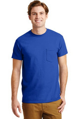 Gildan - Dryblend 50 Cotton/50 Poly Pocket T-Shirt (02038-25); Primary; Decoration Type: