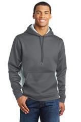 Sport-Tek Sport-Wick Camohex Fleece Colorblock Hooded Pullover (01903-25); High; Decoration Type: