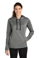 Sport-Tek Ladies Posicharge Sport-Wick Heather Fleece Hooded Pullover (01634-25); Primary; Decoration Type:
