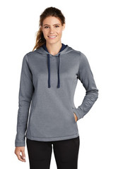 Sport-Tek Ladies Posicharge Sport-Wick Heather Fleece Hooded Pullover (01634-25); High; Decoration Type: