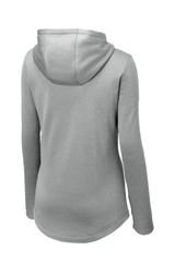 Sport-Tek Ladies Posicharge Sport-Wick Heather Fleece Hooded Pullover (01634-25); Rear; Decoration Type: