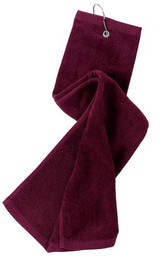 Port Authority Grommeted Tri-Fold Golf Towel (00489-25); High; Decoration Type: