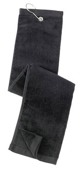 Port Authority Grommeted Tri-Fold Golf Towel (00489-25); Primary; Decoration Type: