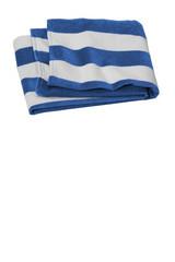 Port Authority Value Cabana Stripe Beach Towel (02043-25); Primary; Decoration Type: