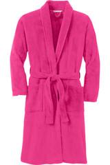 Port Authority Plush Microfleece Shawl Collar Robe (01588-25); Front; Decoration Type: