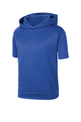 Sport-Tek Youth Sport-Wick Fleece Short Sleeve Hooded Pullover (00840-25); Front; Decoration Type: