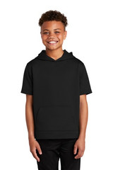 Sport-Tek Youth Sport-Wick Fleece Short Sleeve Hooded Pullover (00840-25); High; Decoration Type: